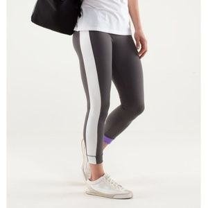 Lululemon Amped Crop in Grey, Purple & White, 4